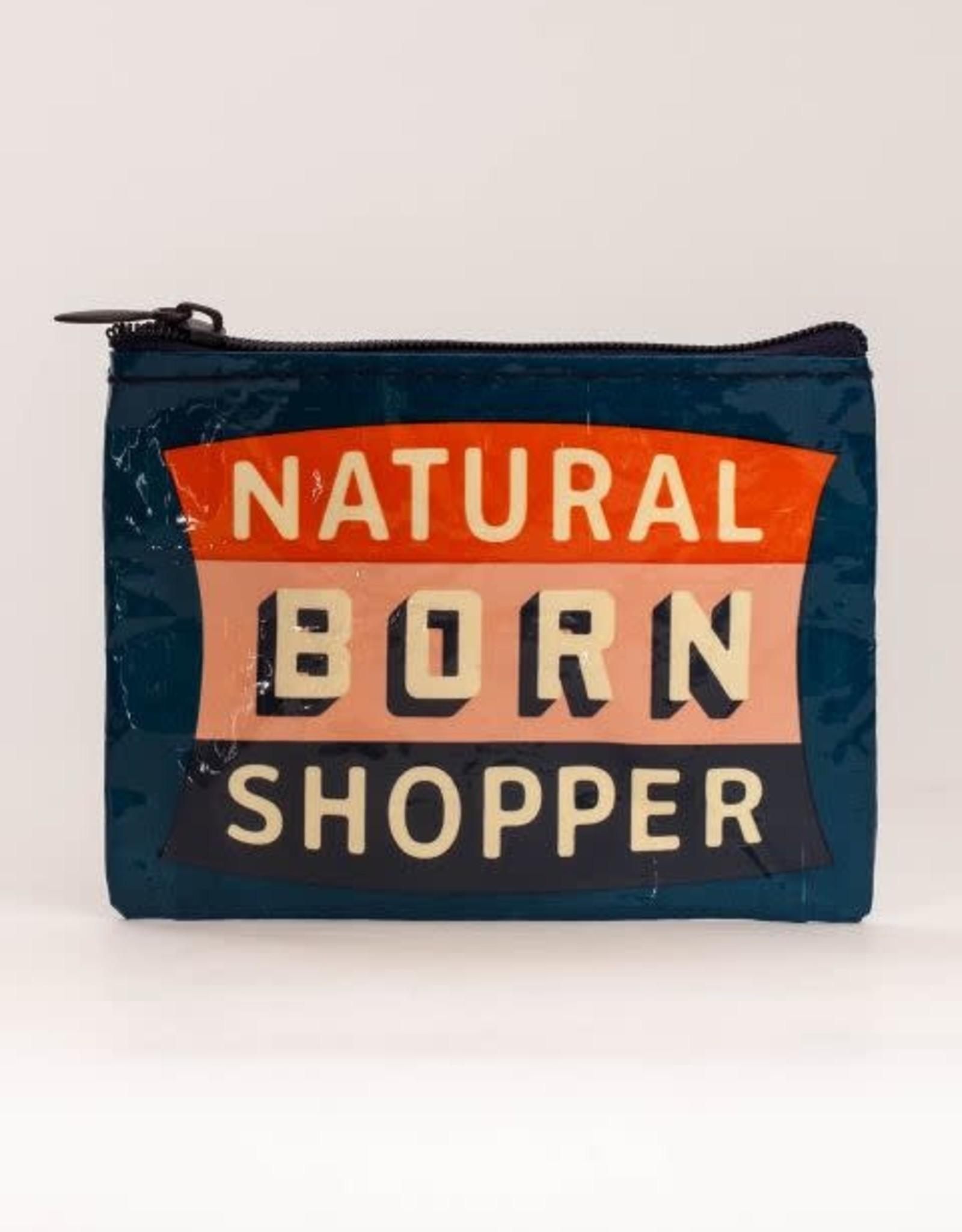 Blue Q Coin Purse Natural Born Shopper