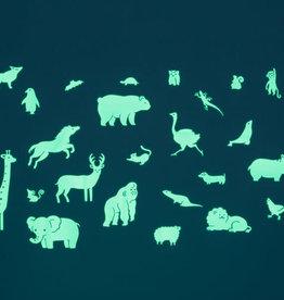 GloPlay Decals Glow in the Dark Animals