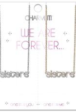 Charm It Charm It Sisters Necklace Set