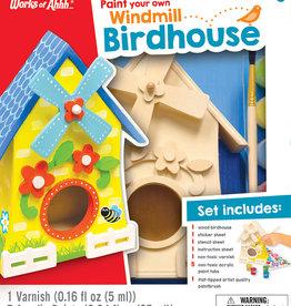 Works of Ahhh Paint Kit  Windmill Wooden Birdhouse