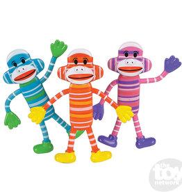 The Toy Network 1 Bendable Sock Monkey