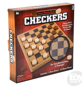 The Toy Network Checkers Wood Set