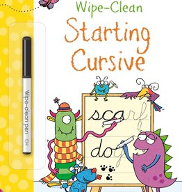 Usborne Wipe-Clean Starting Cursive 4+