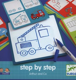 Djeco Learn to Draw Arthur & Co Step by Step 4+