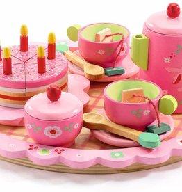 Djeco Tea Set Lilli Rose Party Wooden