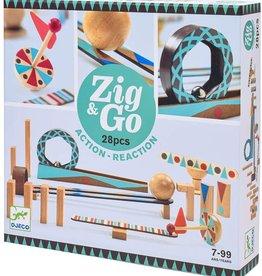 Djeco Building Set Zig & Go 28 pc Chain Reaction