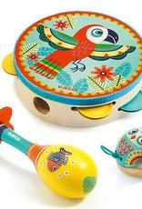 Djeco Music Set Tambourine, Maraca, Castanet