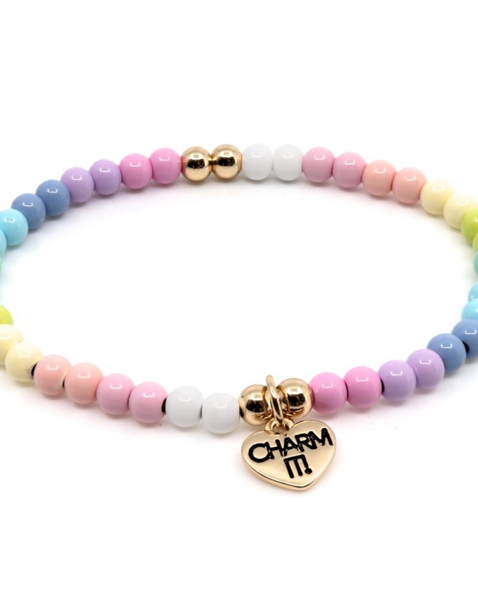 Charm It Charm Bracelet Pastel Stretch