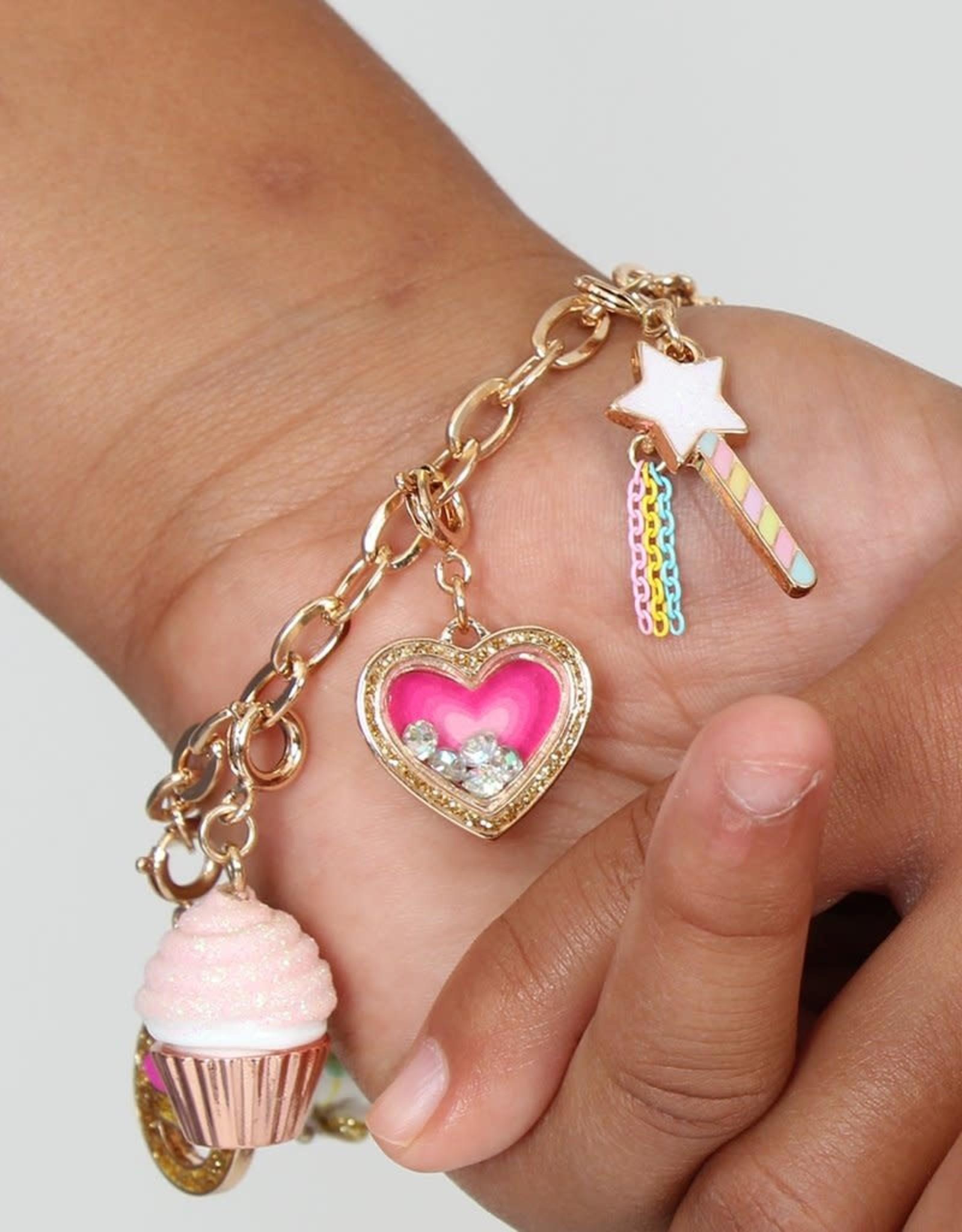 Charm It Charm Gold Heart Shaker