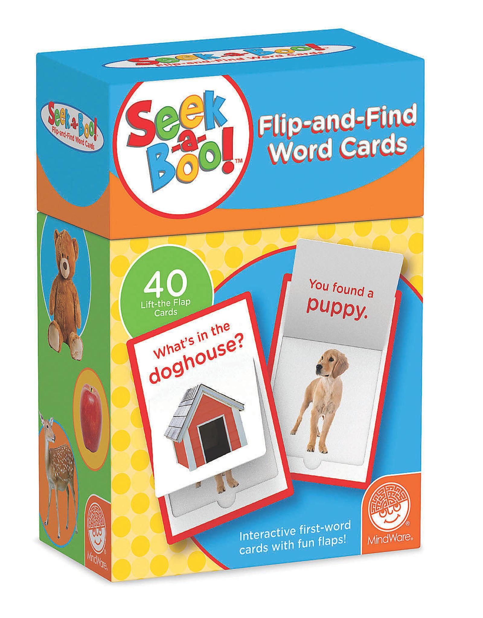 MindWare SEEK A BOO Flip & Find Word Cards