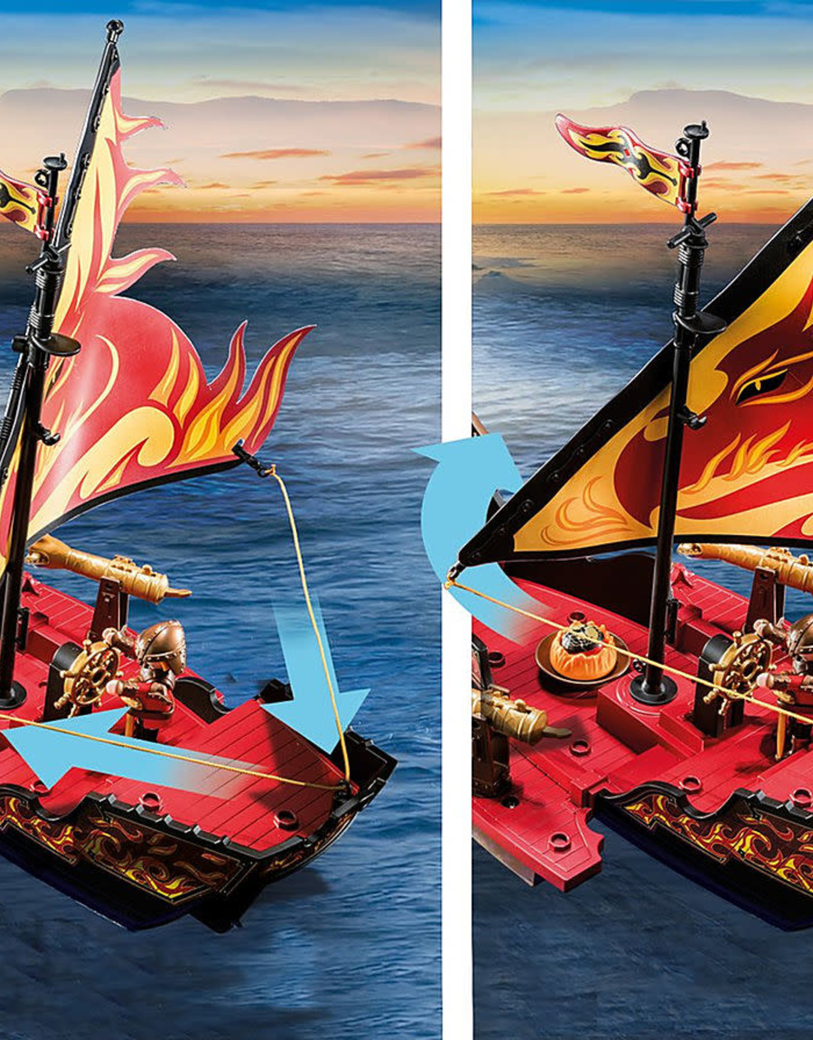 Playmobil PM Burnham Raiders Fire Ship