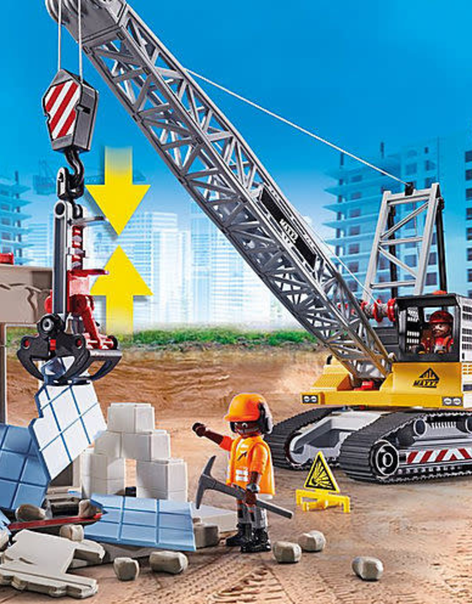 Playmobil PM Cable Excavator with Building Section