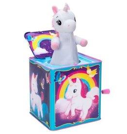 Schylling Jack in the Box Unicorn Pop Glow