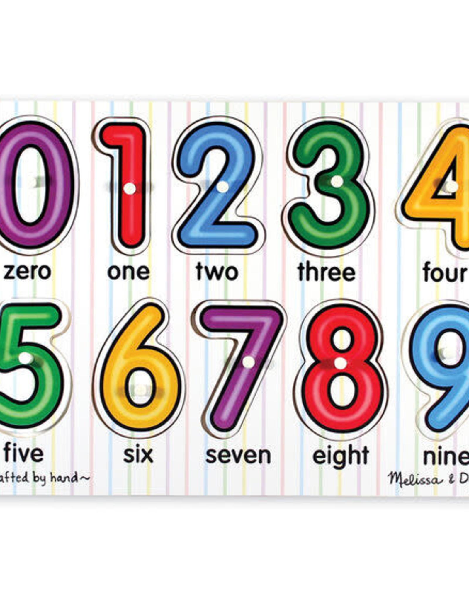 Melissa & Doug MD Peg Puzzle See Inside Numbers