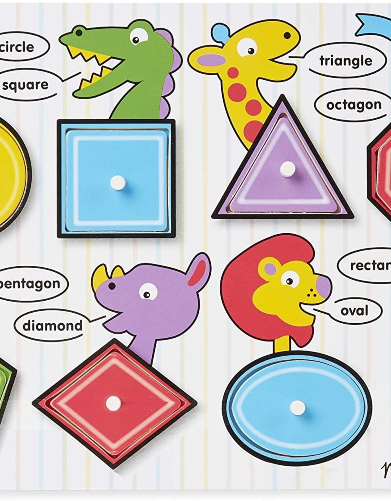 Melissa & Doug MD Peg Puzzle Shapes