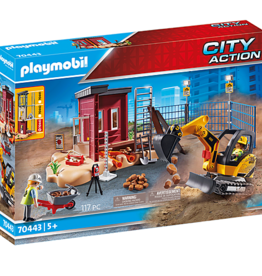 Playmobil PM Mini Excavator with Building Section