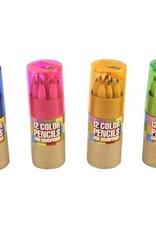 Streamline 12 Color Pencils With Sharpener