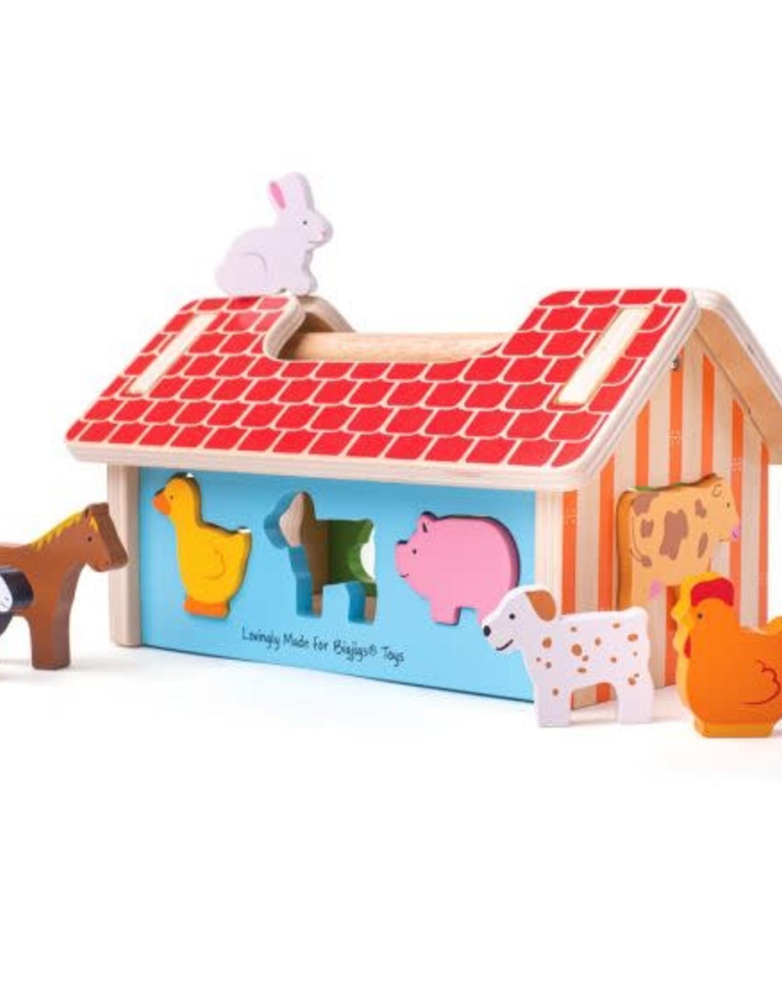 Bigjigs Toys Sorter Farmhouse