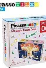 Picasso Tiles 6 Pc Magnetic Magic Puzzle Cube Set