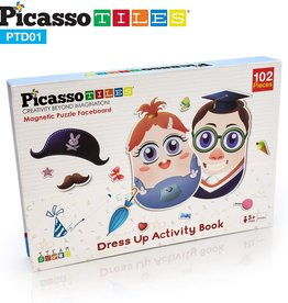 Picasso Tiles 102 Pc Magnetic Puzzle Faceboard Game