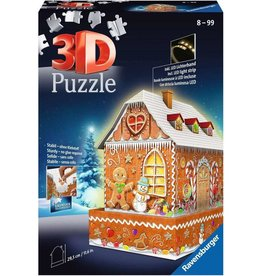 Ravensburger 3D 216pc Gingerbread House Lighted