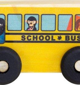 Maple Landmark Wooden Scoots School Bus