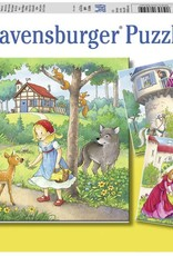Ravensburger 3x49pc Rapunzel, Red Riding Hood, Frog King