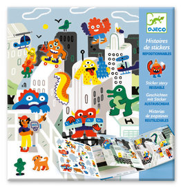 Djeco Djeco - Sticker Stories Monster Invasion