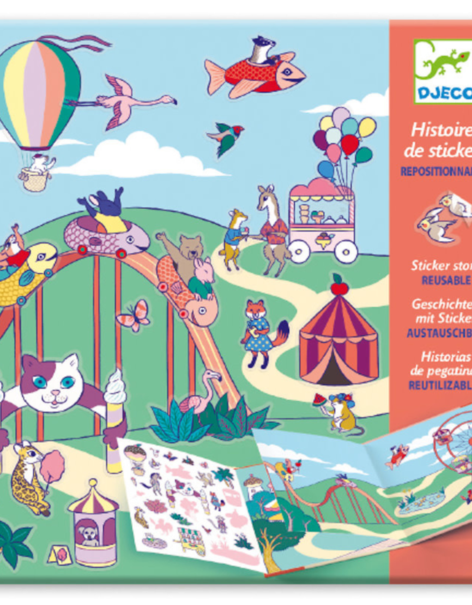 Djeco Djeco - Sticker Story At The Funfair