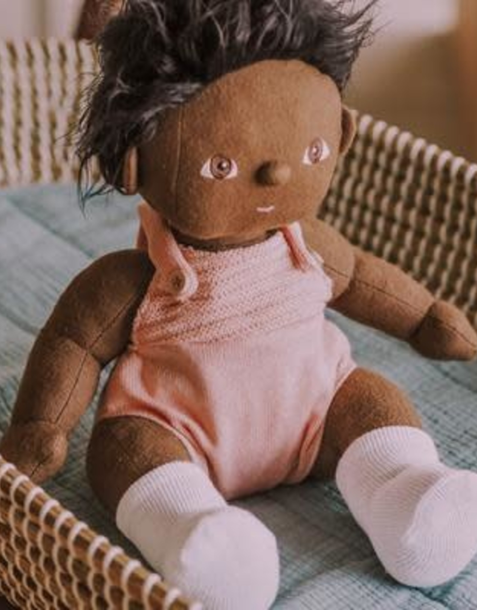 Olli Ella Olli Ella - Dinkum Doll Romper Rose
