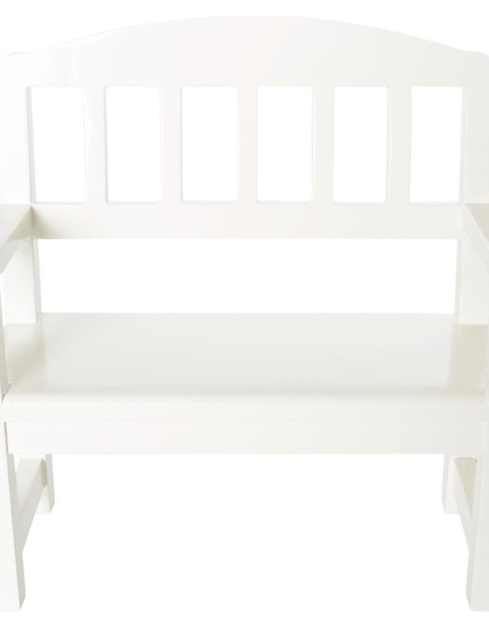 Maileg Maileg - Wooden Bench Off White