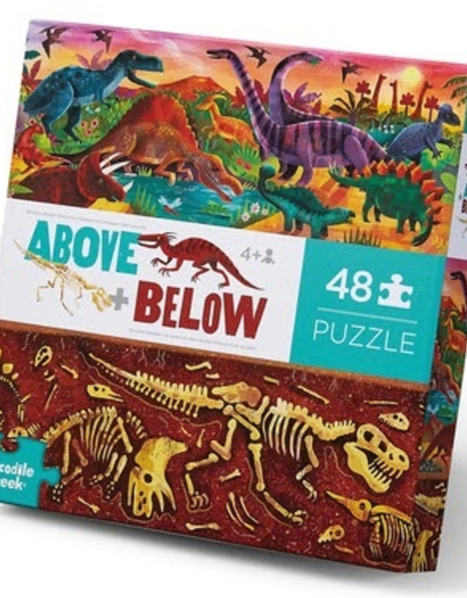 Crocodile Creek Crocodile Creek - Dinosaur World Above & Below Puzzle 48 pc