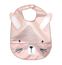 Mister Fly Mister Fly Wipeable Bib - Pink Bunny