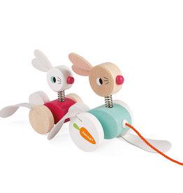 Janod Janod - Pull Along Rabbits