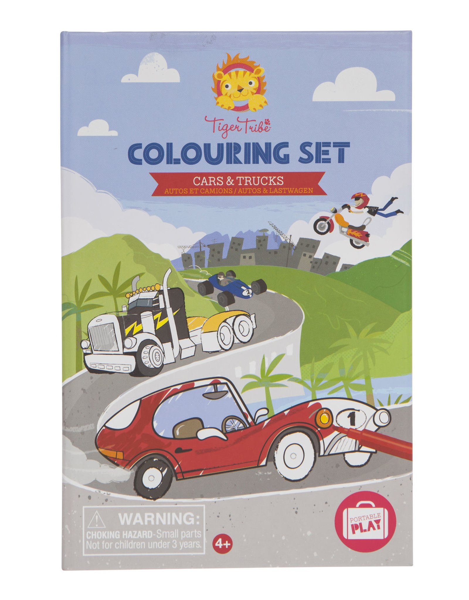 Tiger Tribe Tiger Tribe - Cars And Trucks Colouring Set