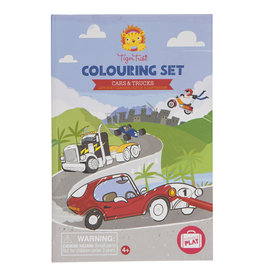 Tiger Tribe Colouring Set - Cars And Trucks