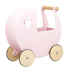 Moover Moover Dolls Pram Light Pink Large