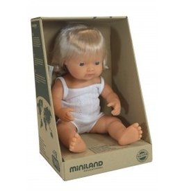 Miniland Miniland Baby Doll 38cm - Caucasion Girl Blond