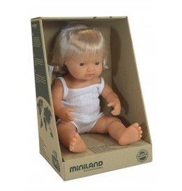Miniland Miniland Baby Doll 38cm - Caucasion Girl