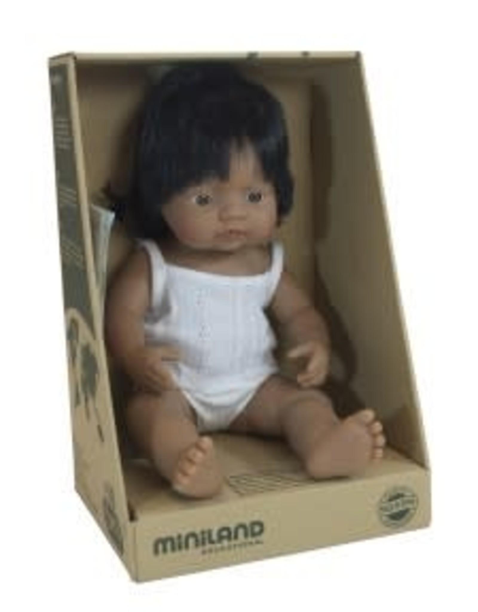 Miniland Miniland Baby Doll Girl - Latin 38cm