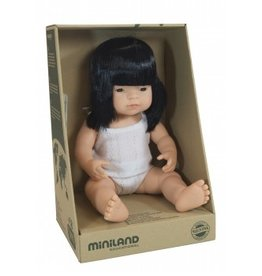 Miniland Miniland Baby Doll Girl - Asian 38cm