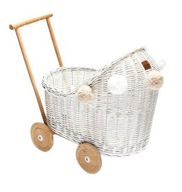 Lilu Lilu - Wicker Pram White