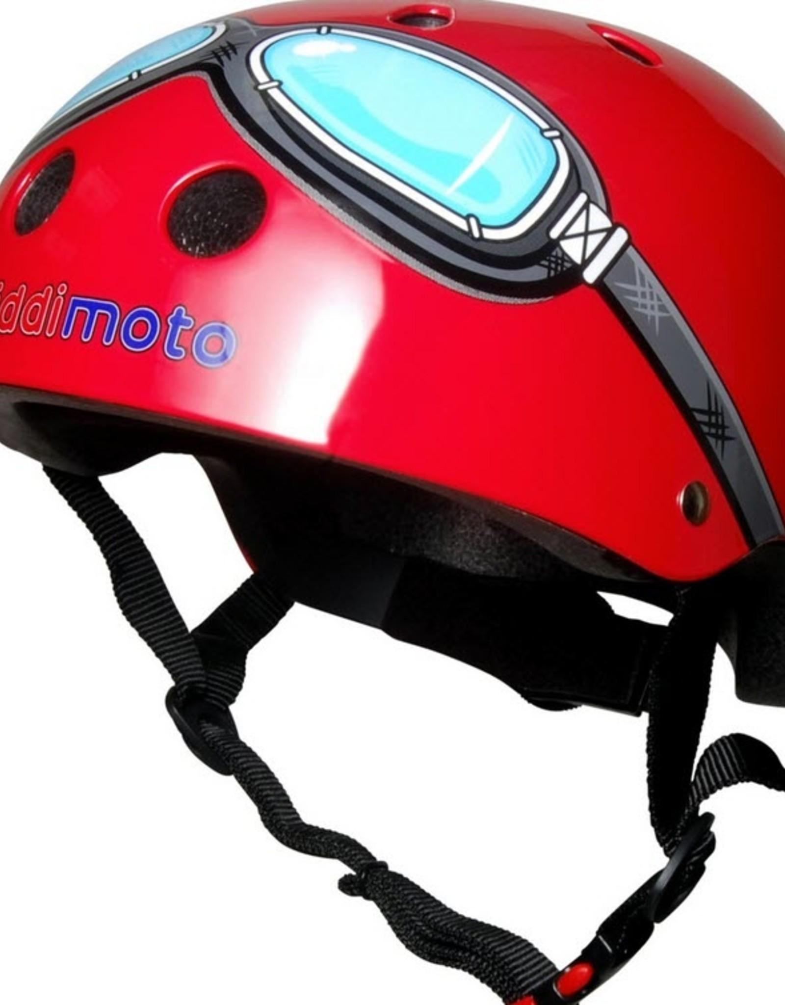 Kiddimoto Helmet Kiddimoto  Helmet - Red Goggles Medium
