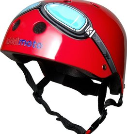 Kiddimoto Helmet Kiddimoto  Helmet - Red Goggles Medium