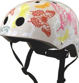 Kiddimoto Helmet Kiddimoto Helmet Butterfly White Medium