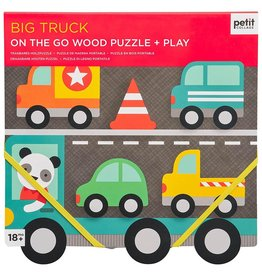 Petit Collage Petit Collage - Big Truck Chunky Wood Puzzle & Play