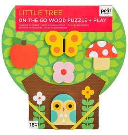 Petit Collage Petit Collage - Little Tree Chunky Wood Puzzle & Play