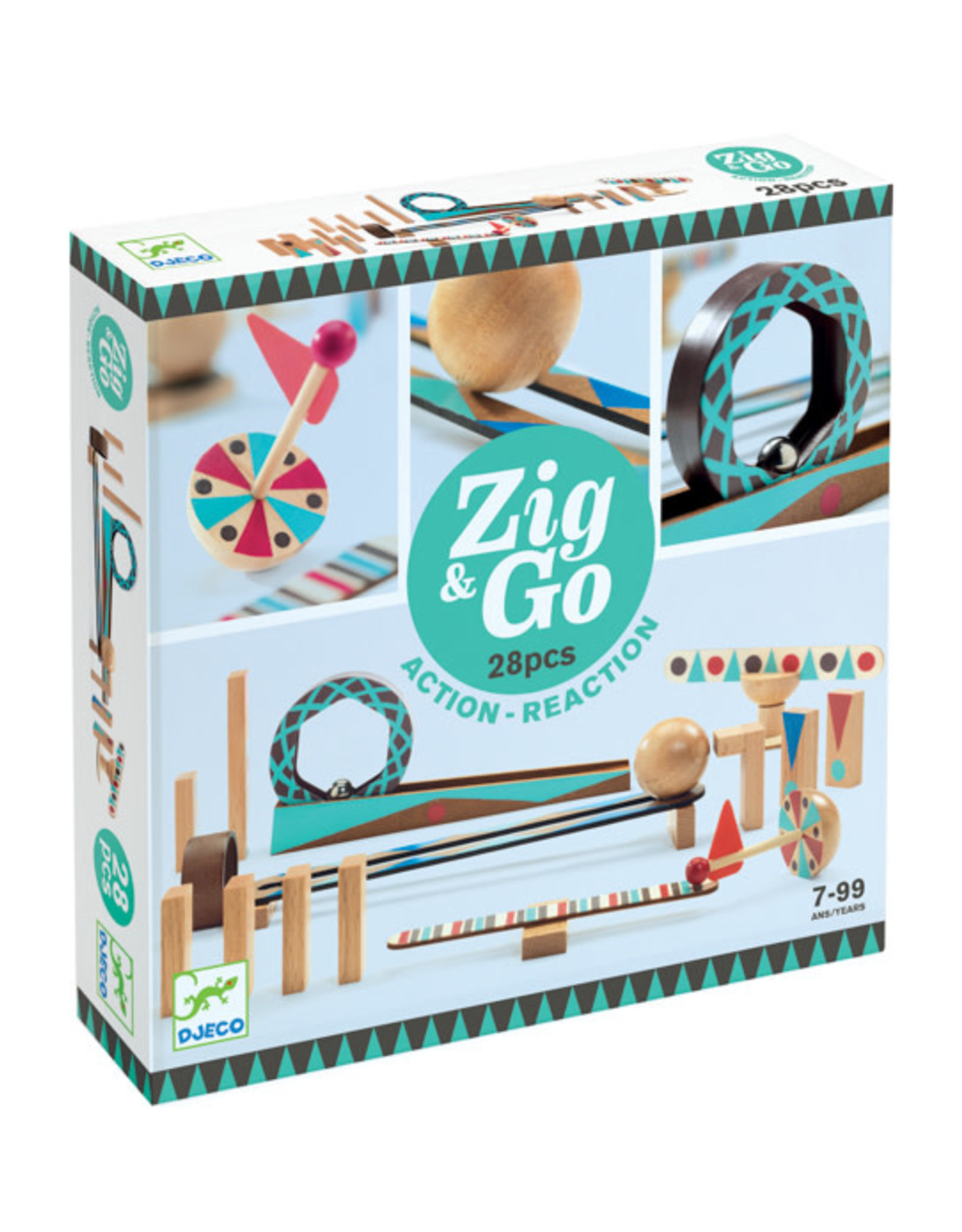 Djeco Djeco - Zig & Go Action Reaction 28pce