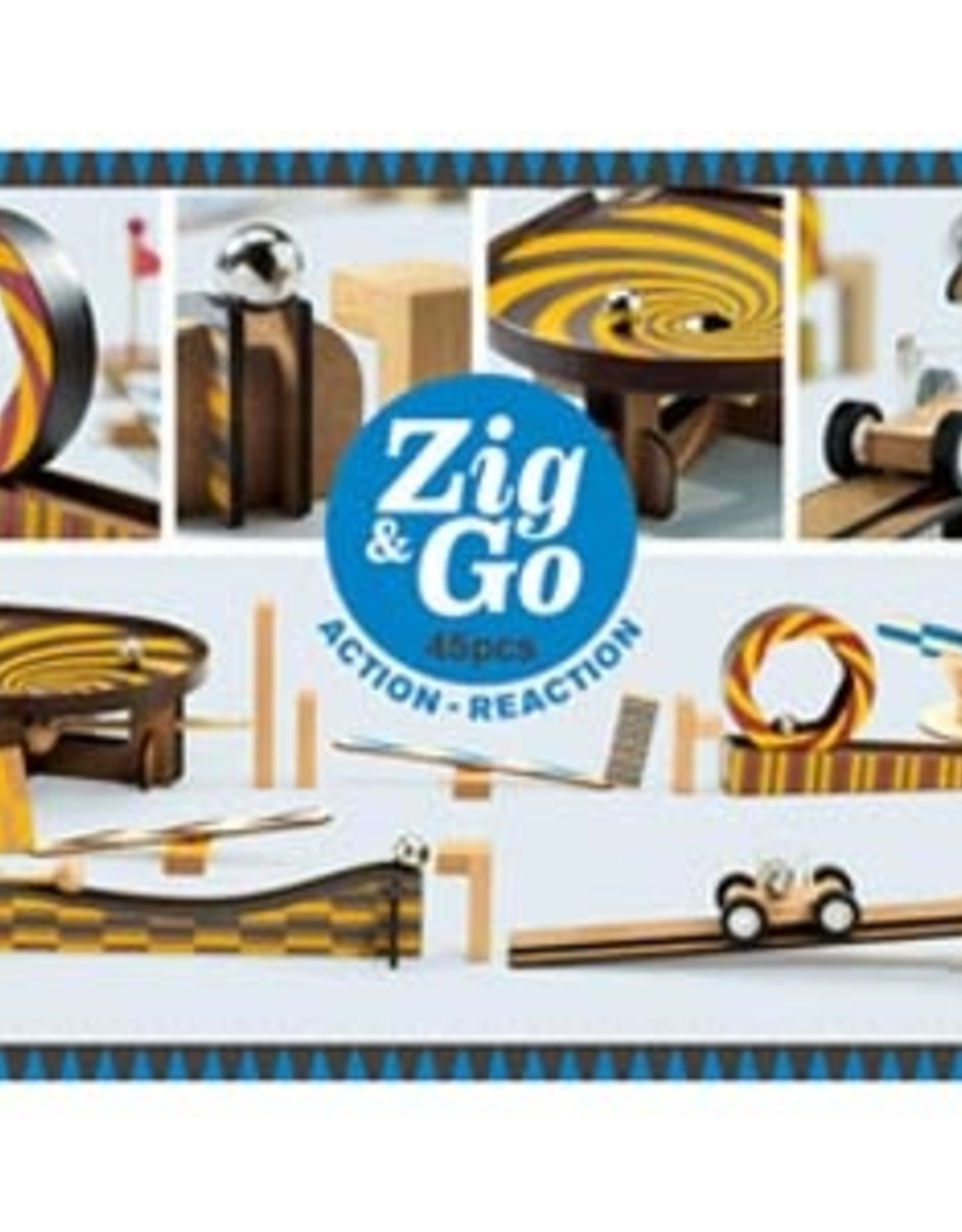 Djeco Djeco - Zig & Go Action Reaction 45pce