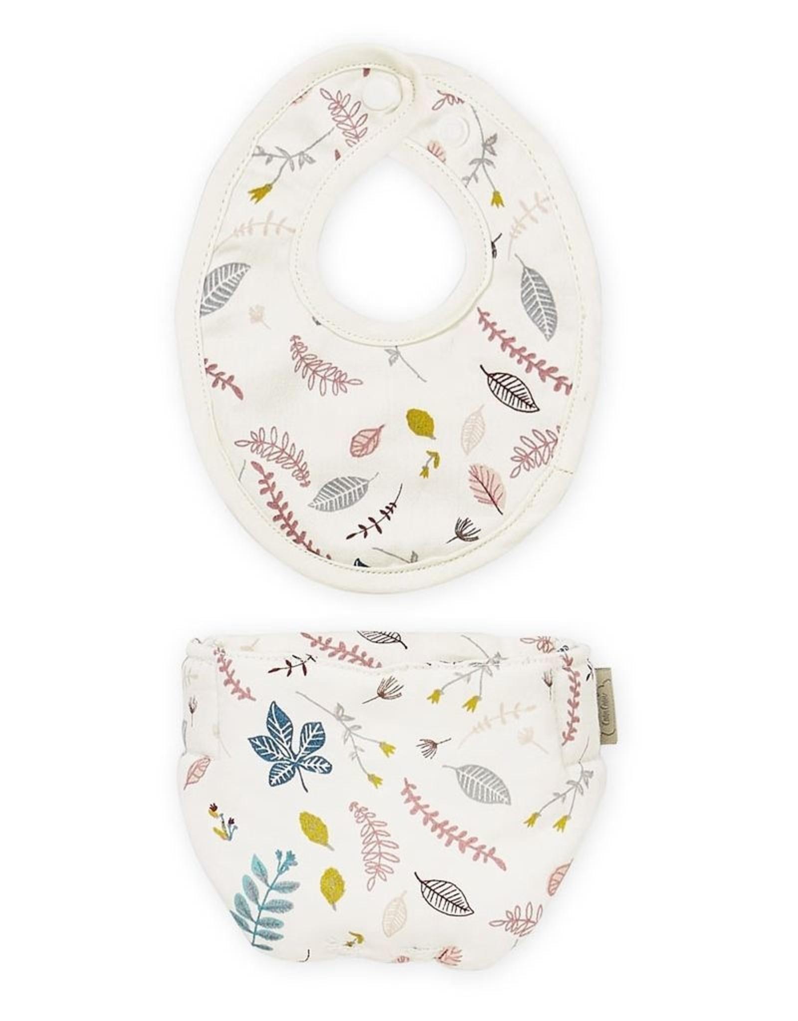 Cam Cam Cam Cam - Bib and Diaper Set  Pressed Leaves